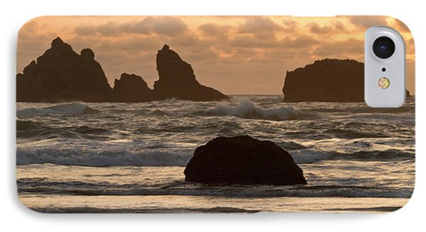 Sea Stacks On The Beach At Bandon IPhone Case by William Sutton