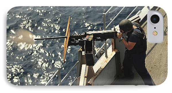 Seaman Fires A .50-caliber Machine Gun IPhone Case by Stocktrek Images