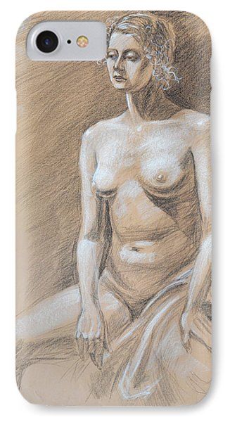 Seated Model Drawing  IPhone Case