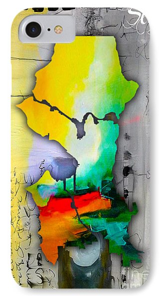 Seattle Map Watercolor IPhone Case by Marvin Blaine