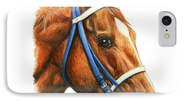 Secretariat With Racing Bridle IPhone Case
