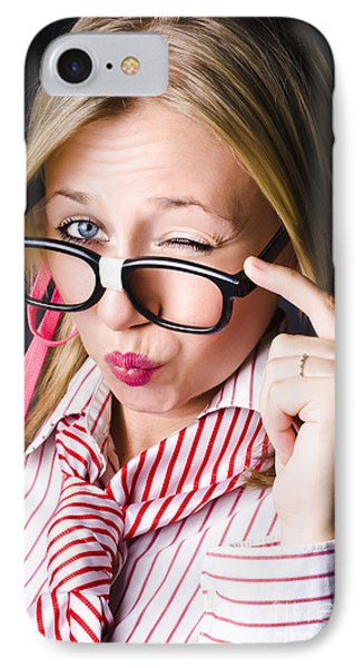 Secretive Nerd Misleading With A Wink Of Deceit  IPhone Case by Jorgo Photography - Wall Art Gallery