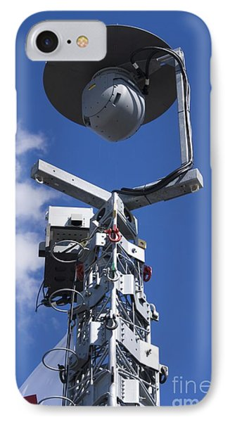 Security Camera On Tower IPhone Case by Mark Williamson