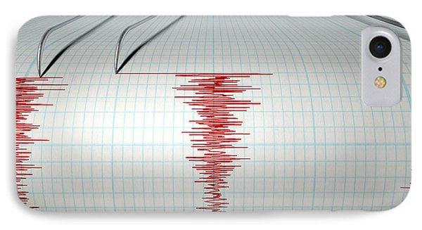 Seismograph Earthquake Activity IPhone Case by Allan Swart