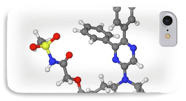Selexipag Blood Pressure Drug Molecule IPhone Case by Dr Tim Evans