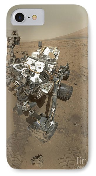 Self-portrait Of Curiosity Rover Phone Case by Stocktrek Images