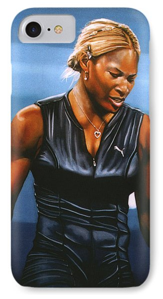 Serena Williams IPhone 7 Case by Paul Meijering