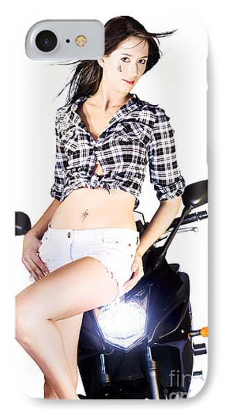 Sexy Biker Girl IPhone Case