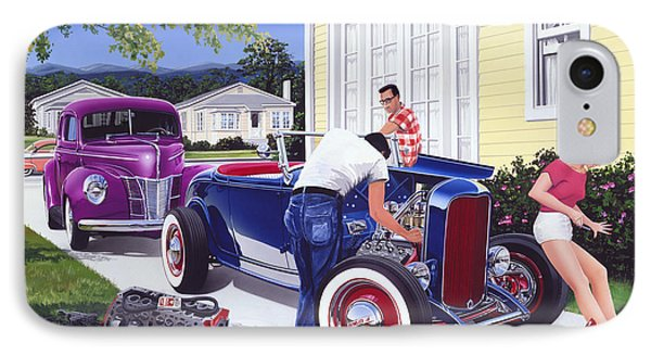 Shade Tree Mechanic IPhone Case by Bruce Kaiser