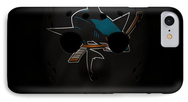 Sharks Jersey Mask IPhone Case by Joe Hamilton