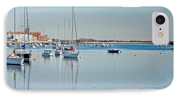 IPhone Case featuring the photograph Sheepshead Bay Harbor by Ann Murphy