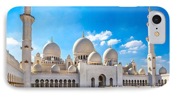 Sheikh Zayed Mosque - Abu Dhabi - Uae IPhone Case by Luciano Mortula