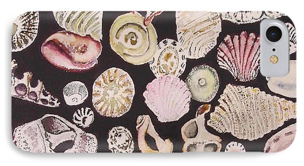 Shells By C . 1.3 IPhone Case by Cheryl Miller