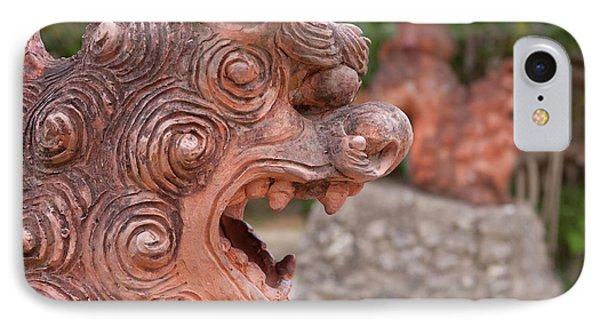 Shisa, Or Okinawan Lion Gods IPhone Case by Paul Dymond