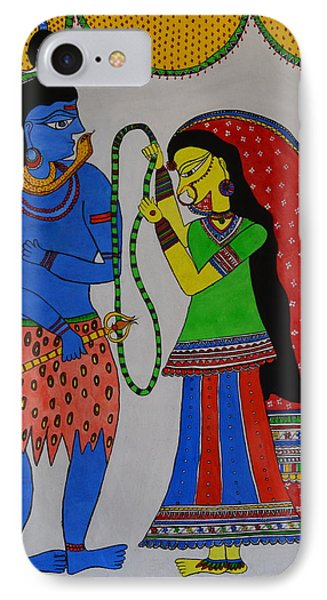 Shiv Parvati IPhone Case by Shruti Prasad
