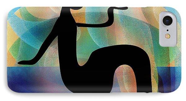IPhone Case featuring the digital art Silhouette by Iris Gelbart