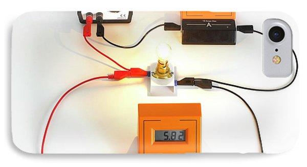 Simple Light Bulb Circuit IPhone Case
