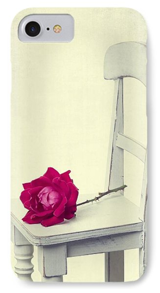 Single Red Rose Phone Case by Edward Fielding