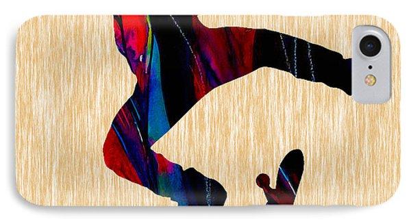 Skateboarder Art IPhone Case by Marvin Blaine