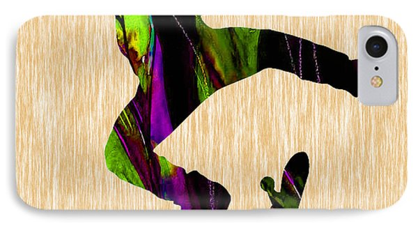 Skateboarder Painting IPhone Case by Marvin Blaine