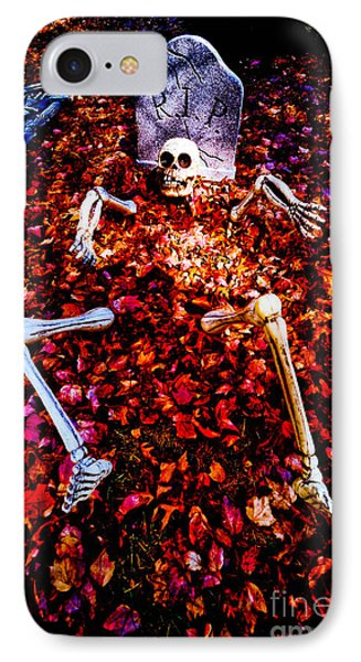 Skeleton Rising From The Dead IPhone Case by Amy Cicconi
