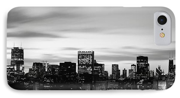 Skyscrapers At Dusk, Chicago, Illinois IPhone Case by Panoramic Images