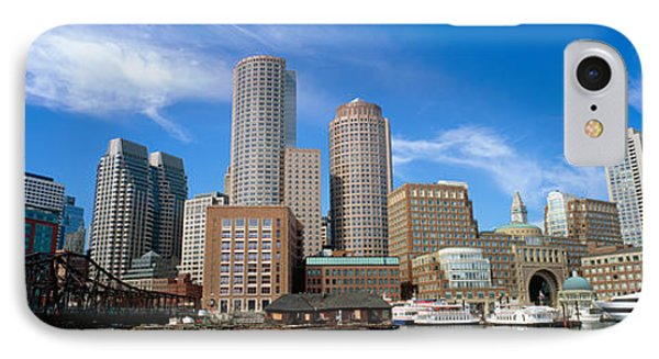 Skyscrapers At The Waterfront, Boston IPhone Case by Panoramic Images