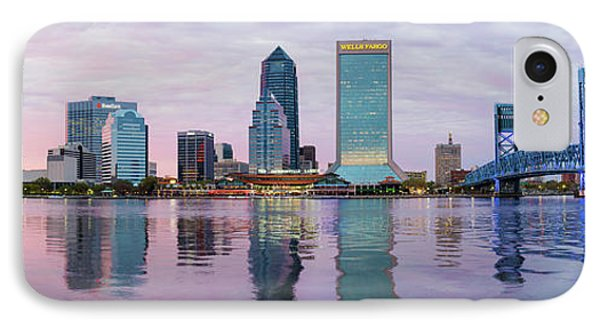 Skyscrapers At The Waterfront, Main IPhone Case by Panoramic Images