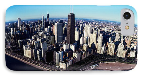 Skyscrapers In A City, Lake Shore IPhone Case by Panoramic Images
