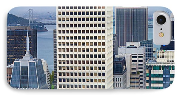 Skyscrapers In The Financial District IPhone Case by Panoramic Images