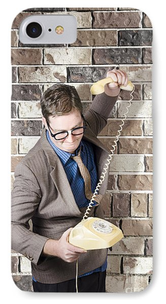 Slamming Down The Phone. Like A Boss IPhone Case by Jorgo Photography - Wall Art Gallery