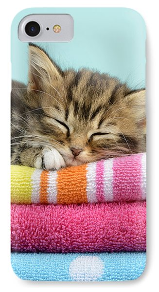 Sleepy Kitten Phone Case by Greg Cuddiford