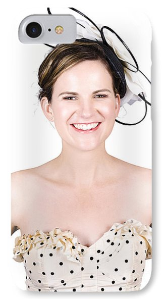 Smiling Young Happy Woman IPhone Case by Jorgo Photography - Wall Art Gallery