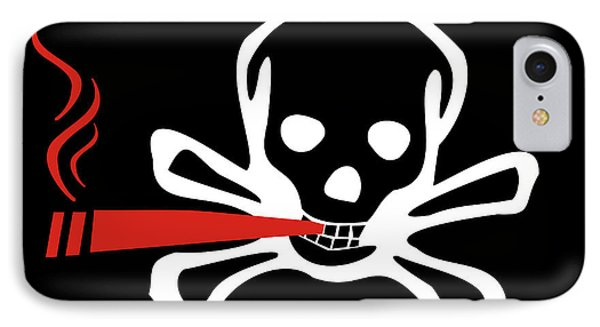 Smoker Skull And Crossbones IPhone Case