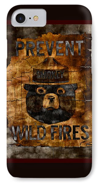 Smokey The Bear Only You Can Prevent Wild Fires IPhone Case