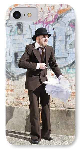 Sniggering Salesman IPhone Case by Jorgo Photography - Wall Art Gallery