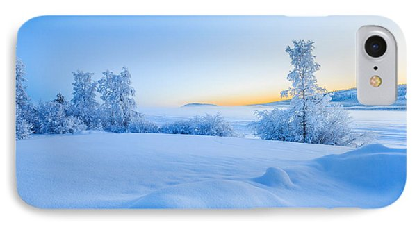 Snow Covered Trees In Extreme Cold IPhone Case