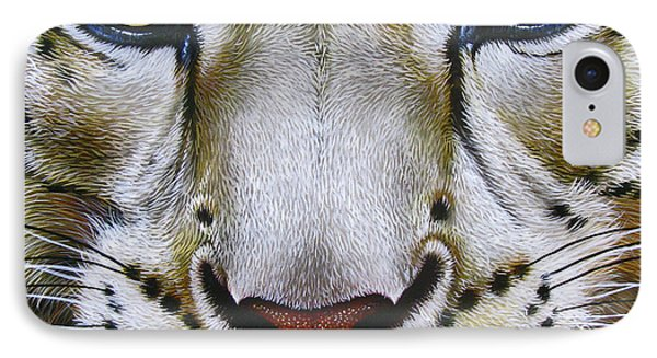 Snow Leopard Phone Case by Jurek Zamoyski