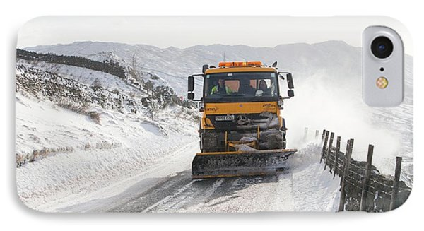 Snow Plough At Work IPhone Case by Ashley Cooper