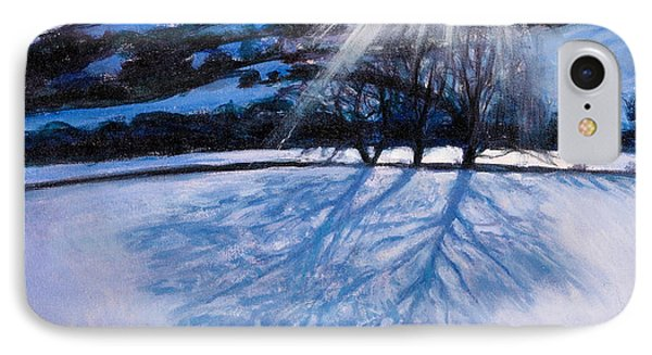 Snow Shadows Phone Case by Tilly Willis
