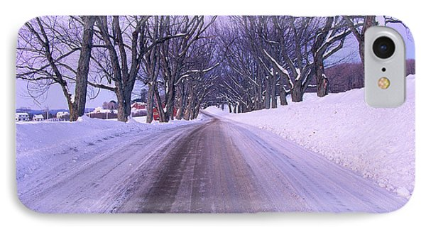 Snowy Country Road IPhone Case