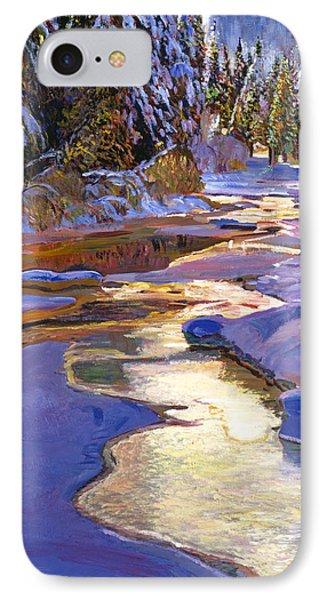 Snowy Creek Phone Case by David Lloyd Glover