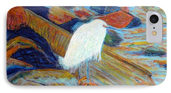 Snowy Egret At Marina IPhone Case by Gerhardt Isringhaus