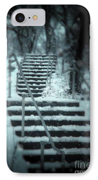 Snowy Stairway Phone Case by Jill Battaglia