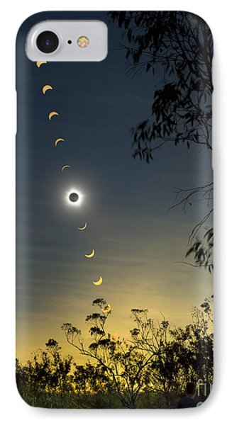 Solar Eclipse Composite, Queensland Phone Case by Philip Hart