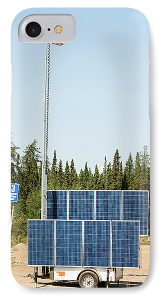 Solar Lighting At A Tar Sands Mine IPhone Case by Ashley Cooper