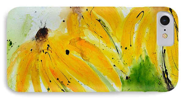 Sonnenhut -  Floral Painting  Phone Case by Ismeta Gruenwald