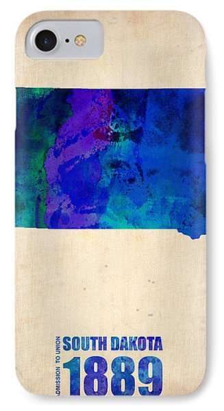 South Carolina Watercolor Map IPhone Case by Naxart Studio