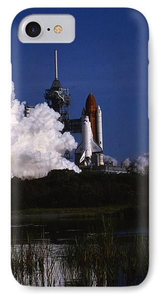 Space Shuttle Challenger  Phone Case by Retro Images Archive