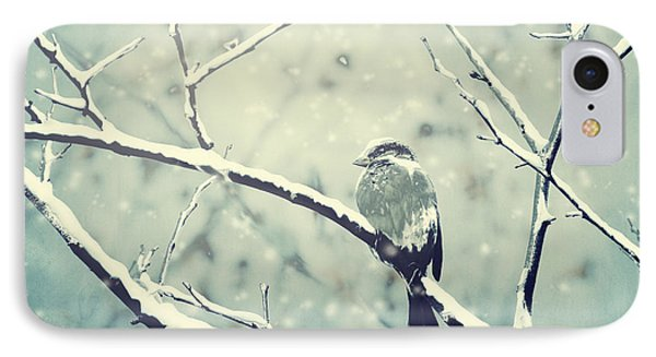Sparrow On The Snowy Branch IPhone Case